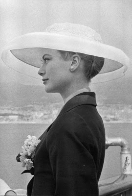 princess grace engaged big hat