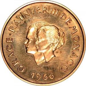 princess grace prince rainier 10th wedding commemorative coin
