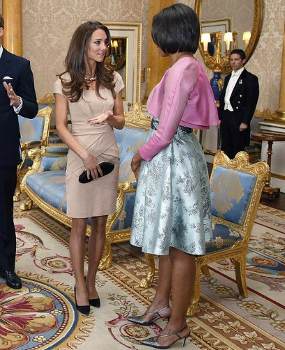 first meeting kate and michelle obama