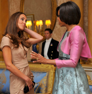 catherine and michelle obama relaxed meeting
