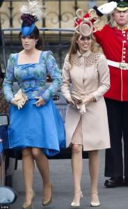 princess beatrice eugenie royal wedding bad hats