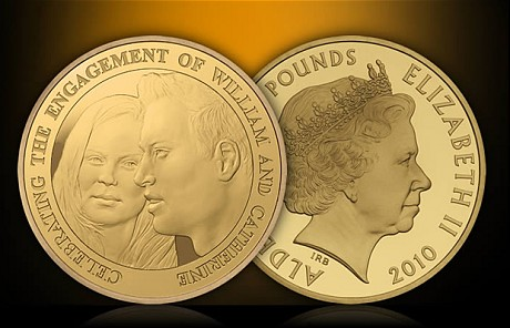 prince william catherine kate engagement commemorative coin