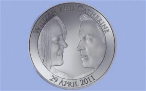 prince william catherine kate wedding commemorative coin