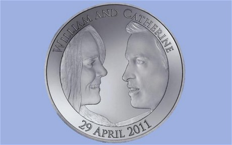 prince william catherine kate wedding commemorative coin