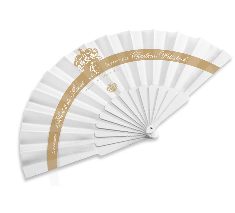 royal wedding monaco souvenir silk fan