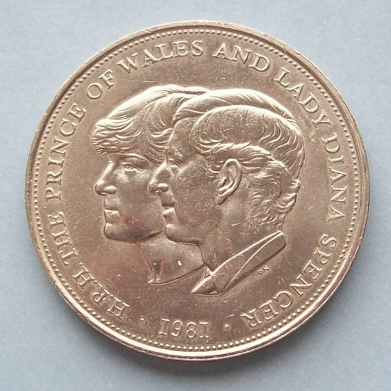 prince charles lady diana commemorative wedding coin