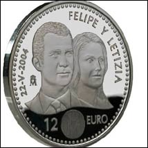 felipe letizia spain wedding commemorative coin