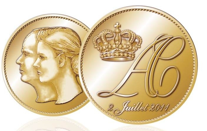 commemorative wedding coin 2011 monaco wedding prince albert charlene