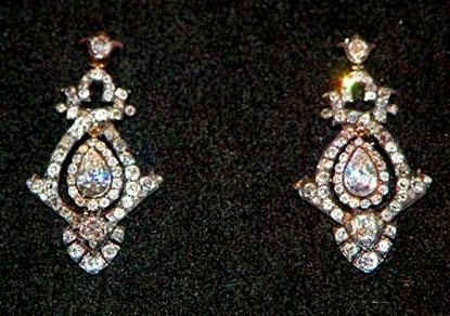 Family earrings loaned to Lady Diana Spencer for her wedding to The Prince of Wales in 1981.