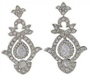 Kenneth Jay Lane version of Lady Diana Spencer's wedding earrings.