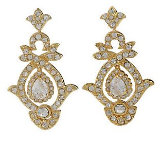 Kenneth Jay Lane goldtone version of Lady Diana Spencer's wedding earrings.