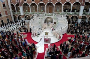 wedding of prince albert princess charlene main courtyard prince's palace monaco