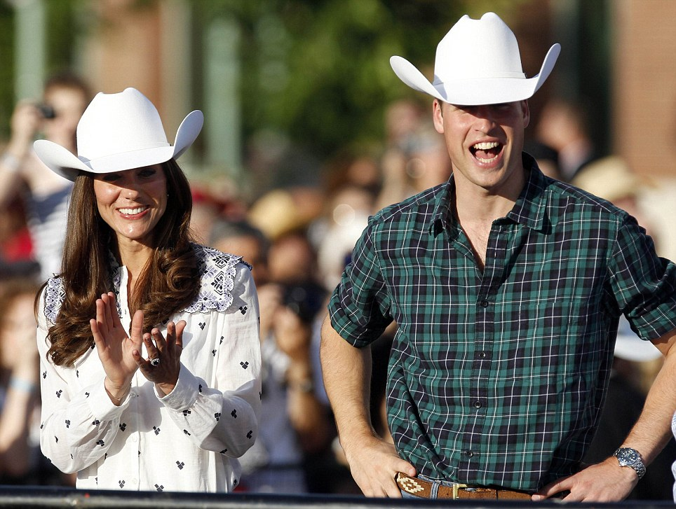 prince william duchess catherine in western hats calgary canada tour 2011