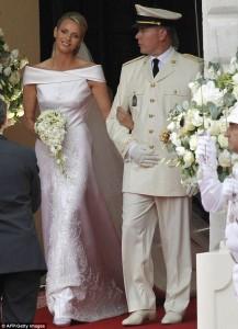 princess charlene and prince albert recessional wedding