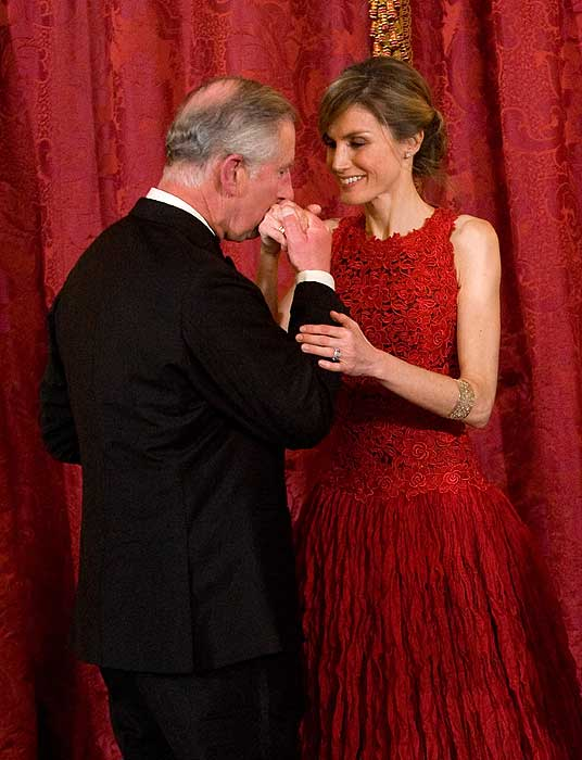 princess letizia red lace