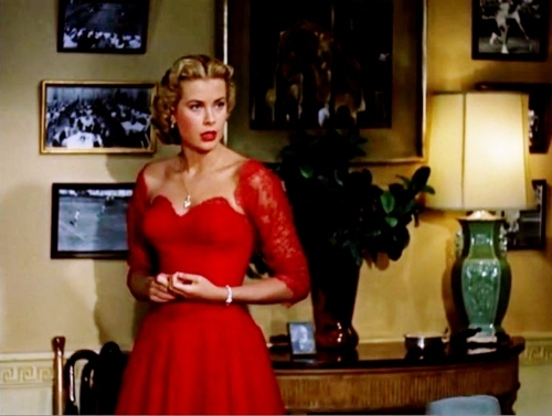 grace kelly red lace