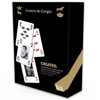 queen elizabeth playing cards game crowns and corgis diamond jubilee souvenir