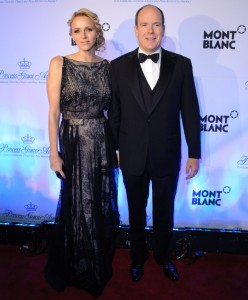 princess charlene monaco black lace christian dior