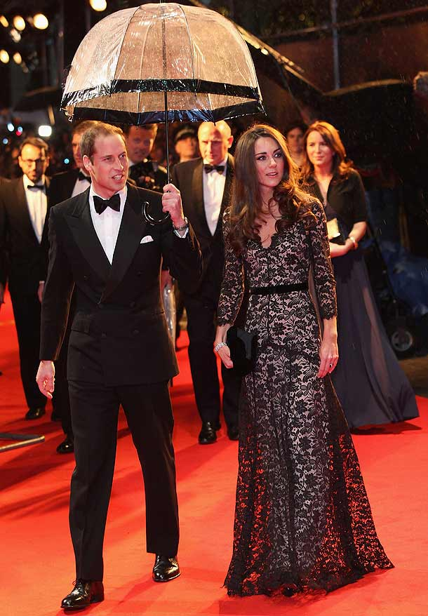 prince william catherine kate cambridge black lace war horse