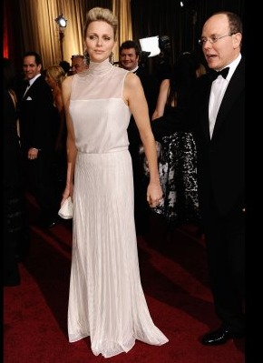 princess charlene prince albert monaco oscars academy awards akris