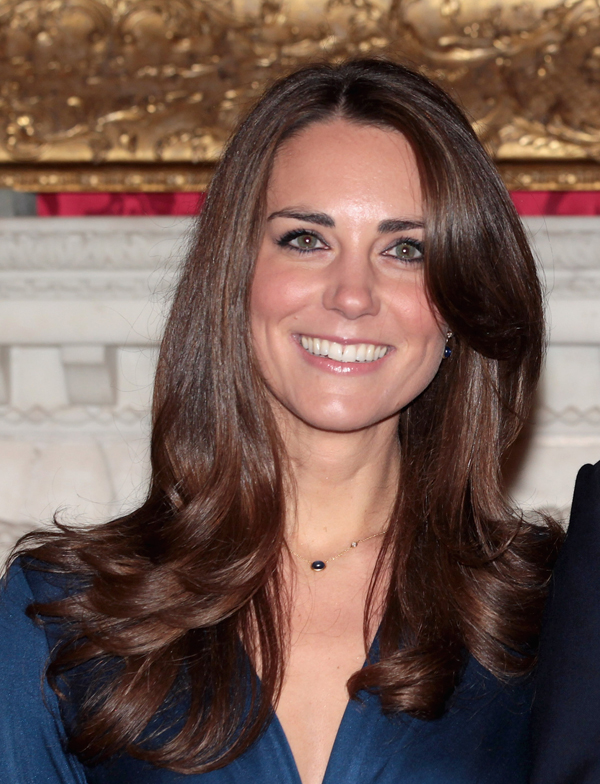 Kate Duchess Cambridge engagement day hair