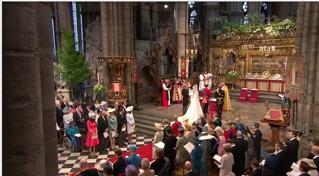 prince william catherine middleton taking wedding vows westminster 