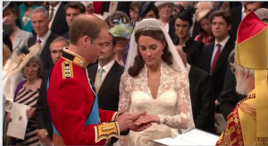 wedding ring ceremony prince william kate middleton